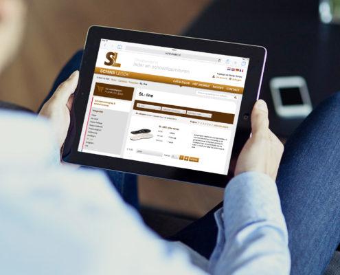 Schins Leder website responsive tablet
