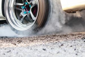 Spinning Car Tire