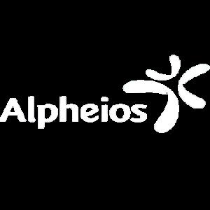 Alpheios Logo wit