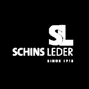 Schins Leder logo wit