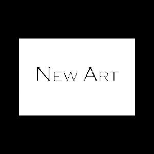 New Art logo wit