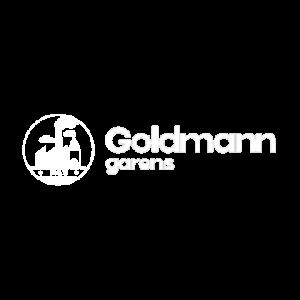 Goldman Garens logo wit