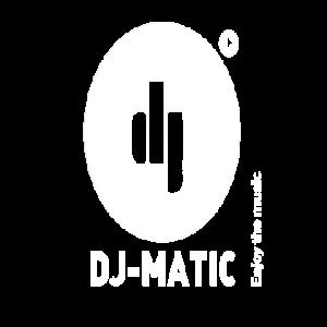 DJ-matic logo wit
