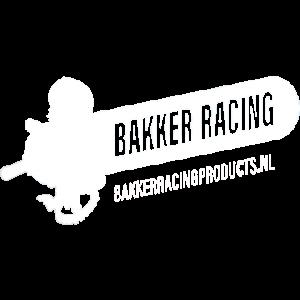 Bakker Racing Logo wit