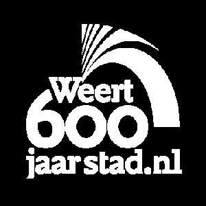 Weert 600 Logo wit