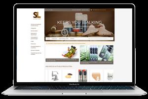 Schins Leder website laptop