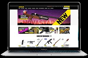Shogun website laptop