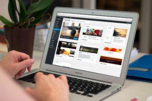WordPress Backend laptop