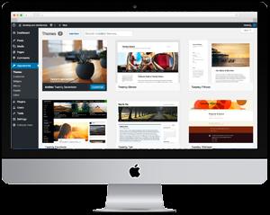 WordPress backend Apple