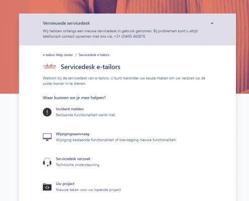Overzicht servicedesk