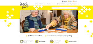 De homepage van spelplus